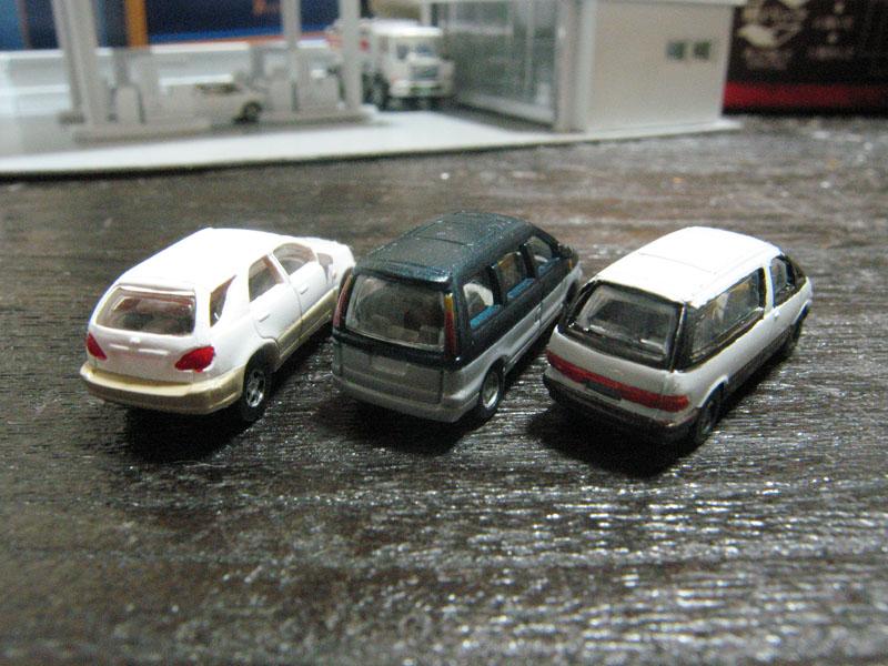 KATO 乗用車セット1を塗装 その3