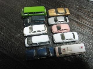 KATO 乗用車セット1と他社製品比較
