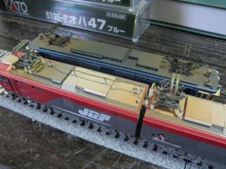 EH500とEF65屋根上ウェザリング比較