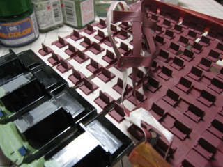 KATO165系のイスをイッキに塗装