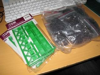 津川洋行 デッキガーター橋 LA−95と組立て樹木キット/20本入り