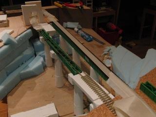 上越線レイアウト 水上橋梁セクション工事報告