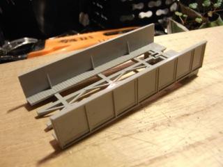 鉄橋セクション KATO 単線プレートガーターをいじった