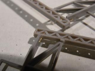 鉄橋セクション 架線柱の接合部