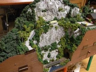 山セクション 温泉へ続く道を改修