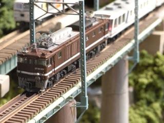 EF64 1001+12系やすらぎと鉄橋セクション