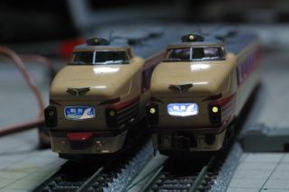 KATO489系能登に自作室内灯&ライトのLEDも交換